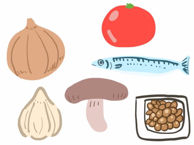 血液をサラサラにする成分が含まれる食材を食べる